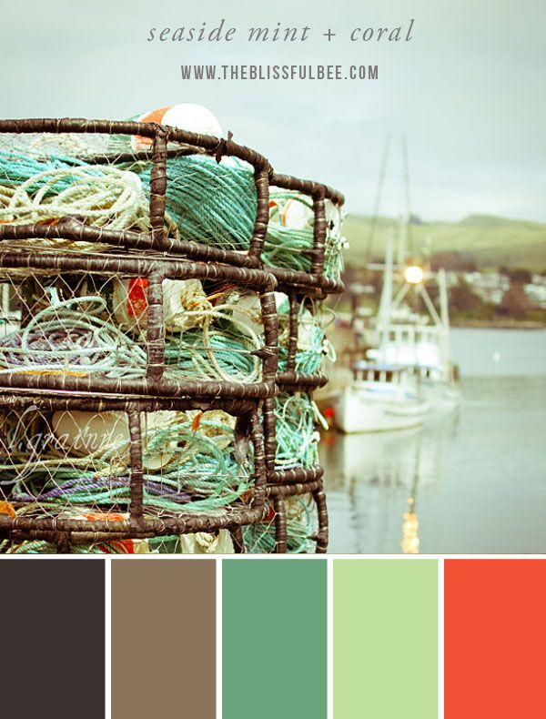 Color Stories – Seaside Mint + Coral - image via The Blissful Bee Blog