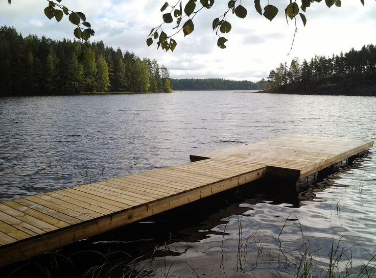 Laituri ja Suomen suvi. - Pier  Finnish summer.