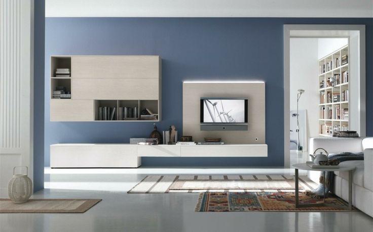 Minimalistisches Wohnzimmer mit Teppich im indianischen Stil