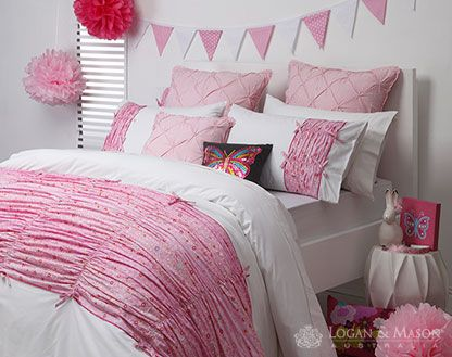 Maisie Pink bedroom decor from Logan and Mason