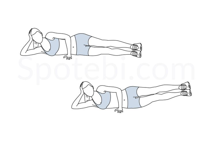Side leg lifts exercise guide with instructions, demonstration, calories burned and muscles worked. Learn proper form, discover all health benefits and choose a workout.
