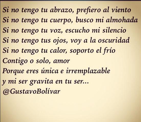 #VersosDeMediaNoche #39 Contigo... o solo. vía @gustavo_bolivar