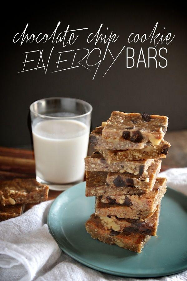 Chocolate Chip Cookie Energy Bars // shutterbean @Shutterbean