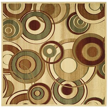 Lyndhurst Rounds Indoor/Outdoor Square Rugs   Jcpenney