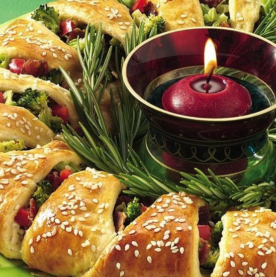 Holiday Appetizer Wreath Recipe Christmas Appetizers