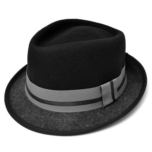 Svart Krone Trilby Hat | Major Wear | Gratis frakt