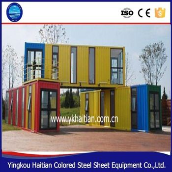2015 New Design Fashion cheap 20ft container office container hotel /20ft container houses