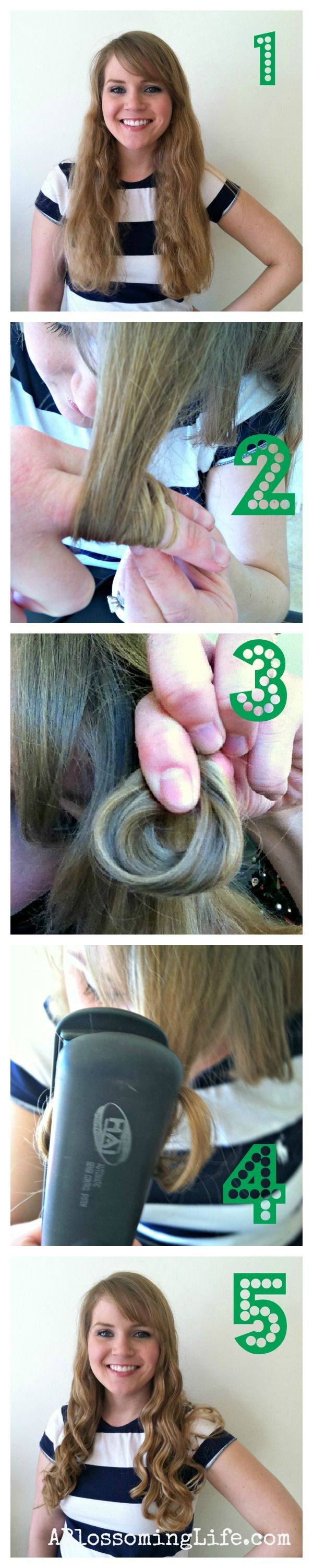 Flat Iron Curl Your Hair the easy way! {aka Finger Curls}