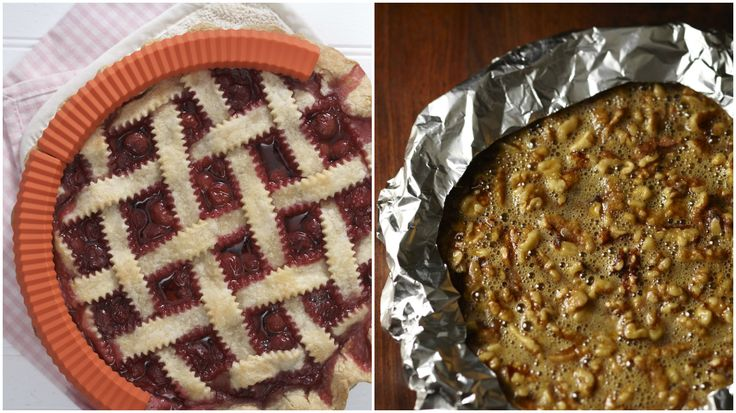 Two ways to shield the pie crust