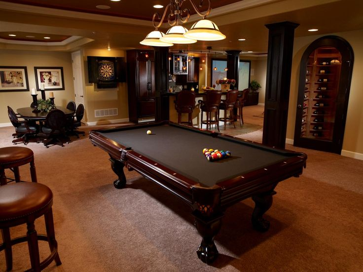 Cool Basement Ideas. Have A Private Presidential Underground Getaway With  Polished Mahogany Furniture With Cocoa