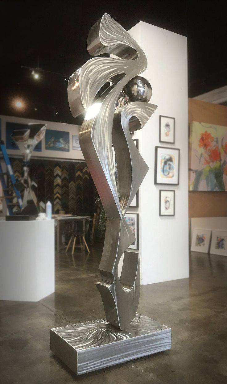 Modern stainless steel sculpture by up and coming sculptor, Hunter Brown.