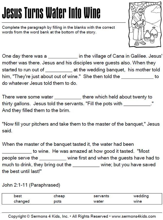96 Best Jesus Water To Wine Images On Pinterest Sunday School