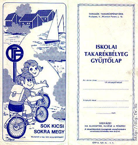 Iskolai takarékbélyeg gyűjtő lap :)