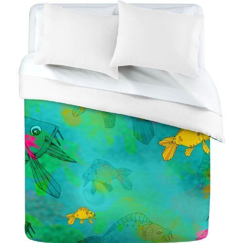 Deny Designs Aimee St Hill Fish Duvet Cover King By Deny