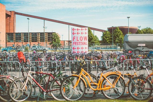 Bike park 2012 by Jussi Hellsten, Flow Festival 2012, via Flickr