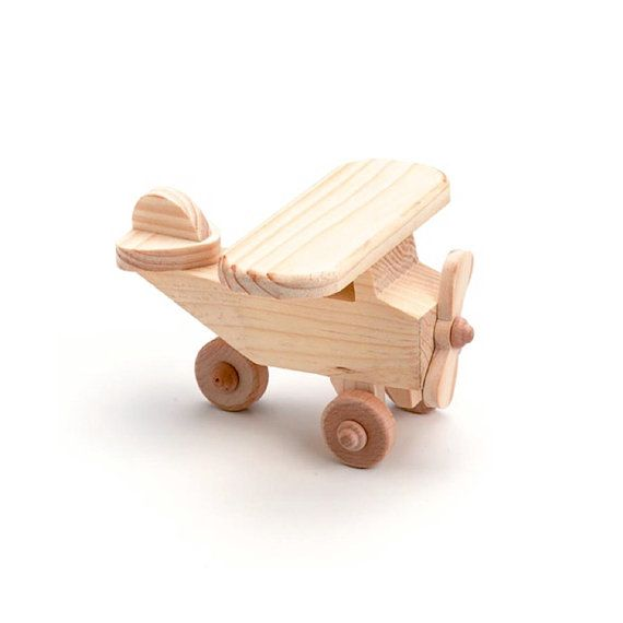 Wood Toy Airplane - Wood Craft Supplies via Etsy