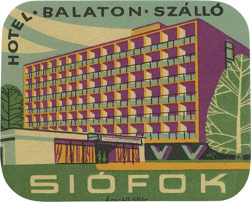 Hotel Balaton, Siófok #Balaton #vintage #tourism #marketing #poster #plakat #Hungary Collection by: http://www.pinterest.com/bookpublicist/