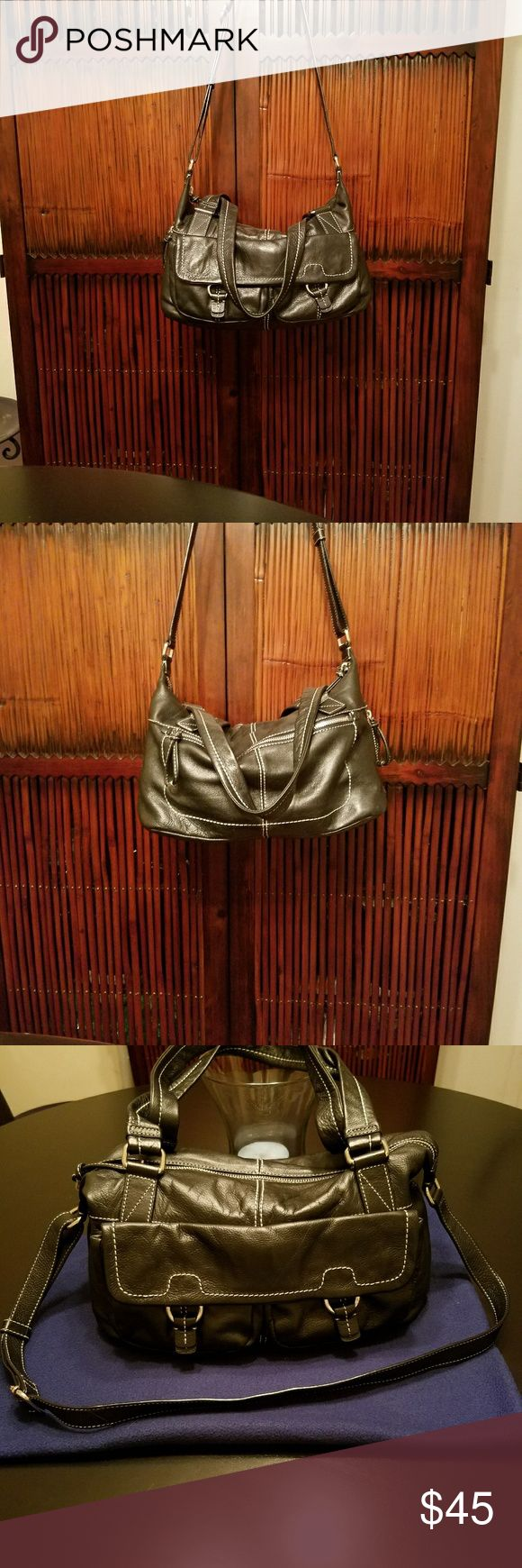 Selling this Banana Republic - Black Leather Satchel on Poshmark! My username is: hulaberry72. #shopmycloset #poshmark #fashion #shopping #style #forsale #Banana Republic #Handbags