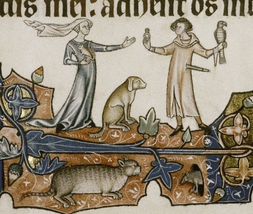 ca. 1310 East Anglia Oxford, Bodleian Library MS. Douce 366: Ormesby Psalter fol. 131r source (LUNA) Yes, I know what you're all think...