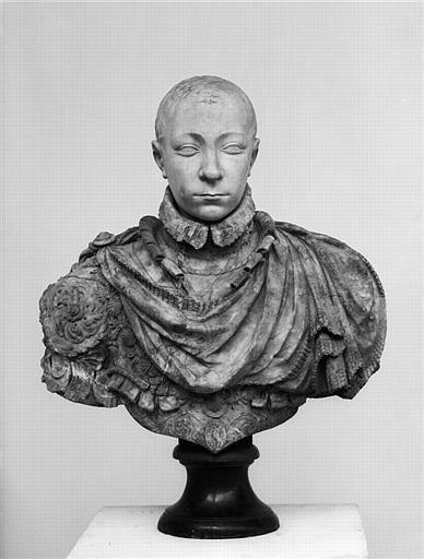 Buste de Charles IX (St germain en laye 1550-Vincennes 1574) Germain Pilon (attribué à) Le Louvre