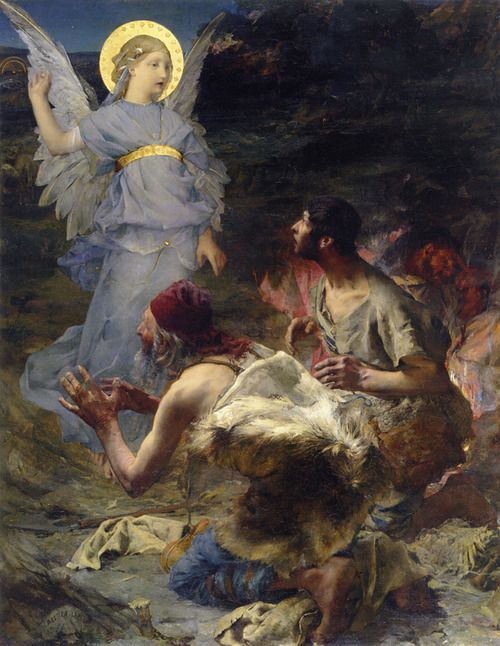 Jules Bastien-Lepage, Annunciation to the Shepherds, 1875