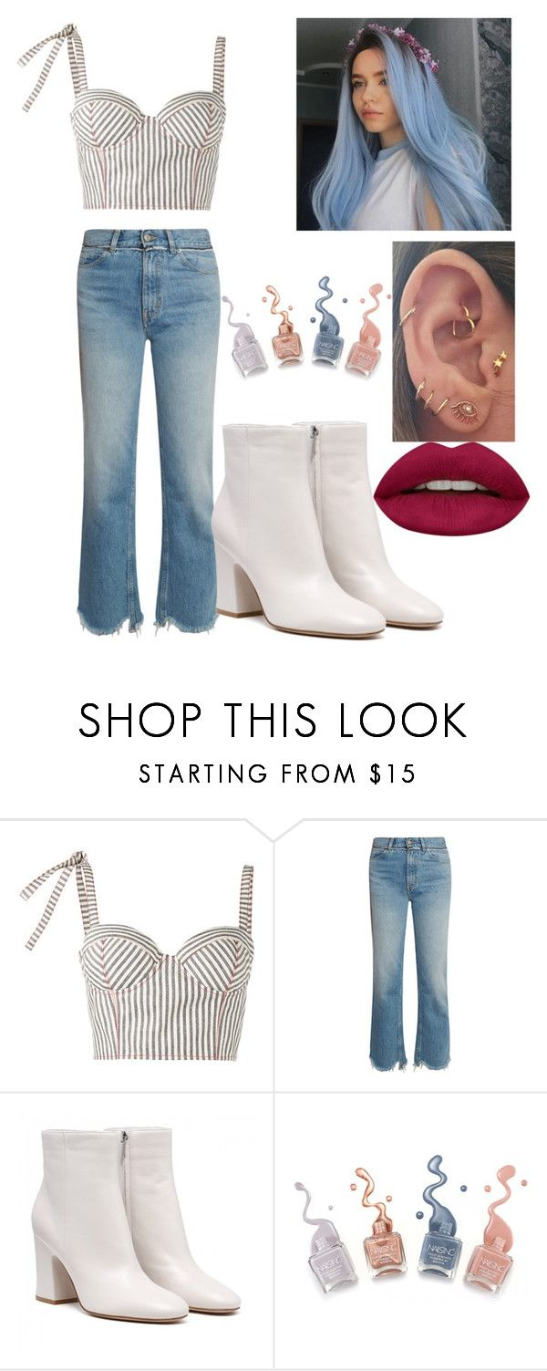 """""""Girls Just Wanna Have Fun"""" by tori-jones-new-directioner ❤ liked on Polyvore featuring Rosie Assoulin, Golden Goose and Huda Beauty"""