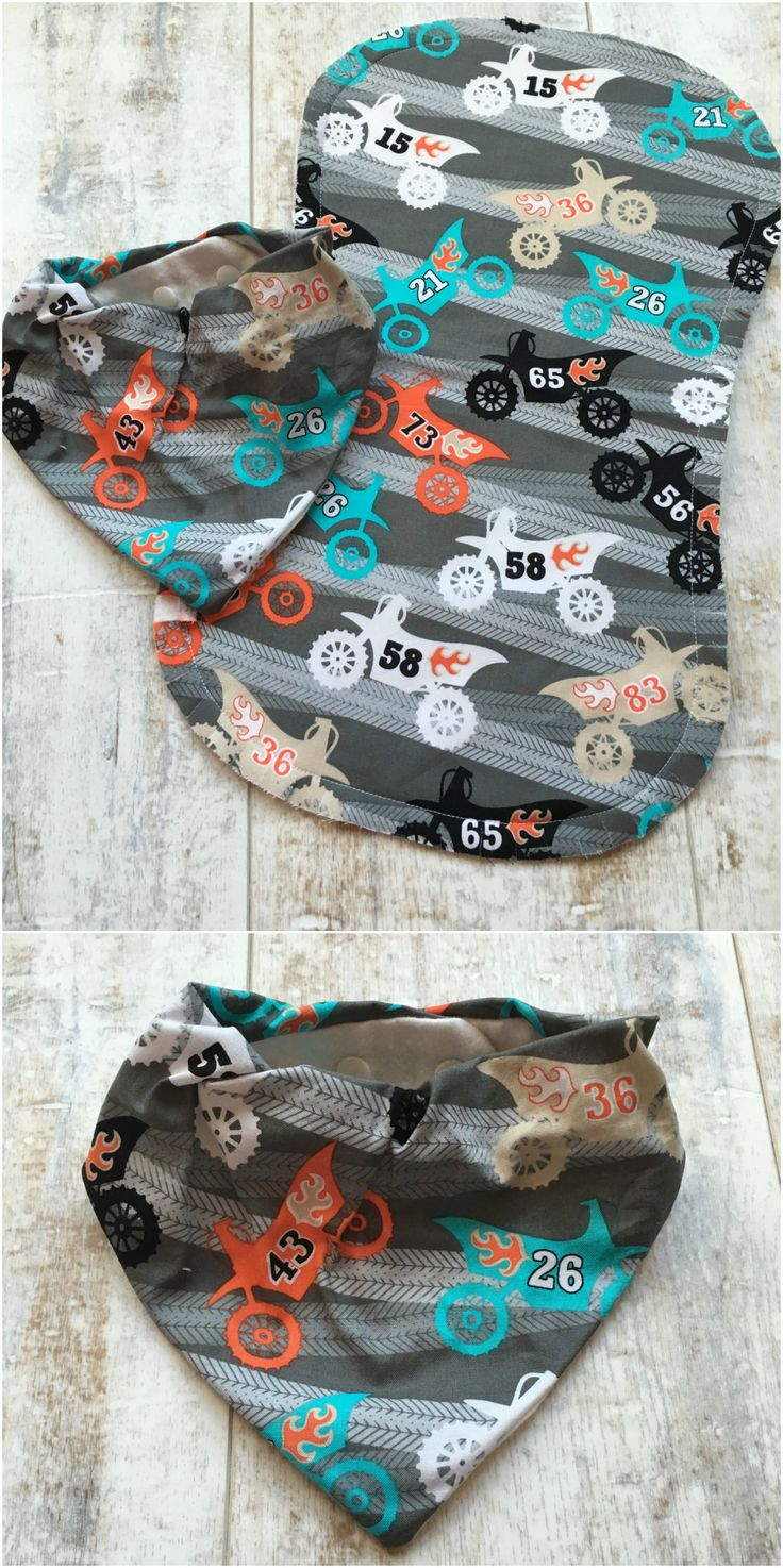 https://www.etsy.com/listing/467441761/dirt-bike-baby-moto-baby-dirt-bike  Moto Baby Set - Dirt Bike Bandana Bib and Burp Cloth Set - Motocross baby