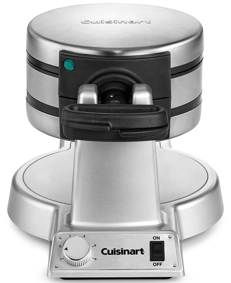 Keep the yumminess coming with this double Belgian waffle maker from Cuisinart. The maker gives you the control to cook every waffle to order, while a non-stick coating makes cleanup easy. | Imported