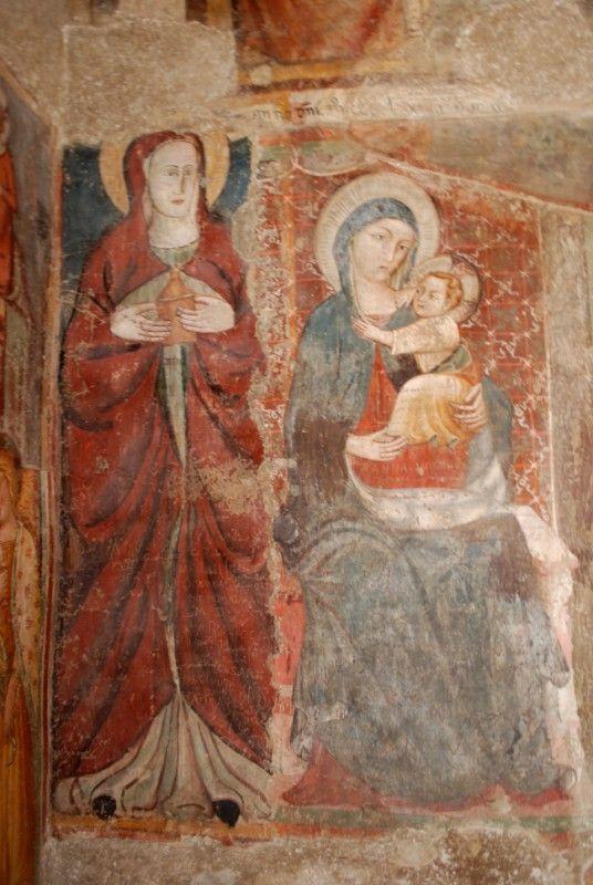 Madonna col Bambino, affresco eremo di Santa Maria Giacobbe, Pale di Foligno