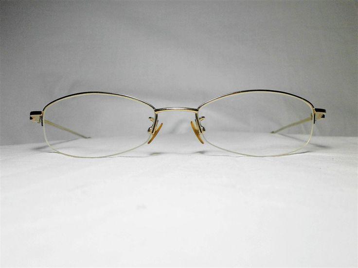 Valentino Rudy Italy, gold plated Titanium half rim, women's eyeglasses frame, vintage by FineFrameZ on Etsy