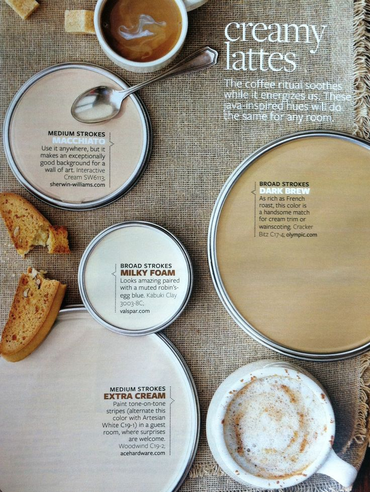 Нейтральные оттенки краски, такие как древесный серый и сливочное латте, нейтральные не являются скучными. Просмотрите наши главные нейтральные цветовые подборки, чтобы найти правильный оттенок для ваших комнат. Плюс, узнать лучшие трюки для декорирования в нейтральных цветах. Neutral Paint Colors. Creamy Latte Paint Colors. With tones as varied as driftwood gray and creamy latte, neutrals are anything but boring. Вecorating in neutrals: interactive cream, cracker bitz,kabuki city, woodwind