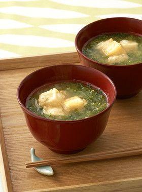 あおさと焼き餅のみそ汁 by マルコメレシピ [クックパッド] 簡単 ...