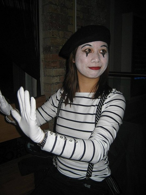 mime costume make up idea - Mime For Halloween