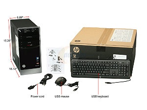 HP Pavilion p7-1240 (H2L70AA#ABA) Desktop PC A10-Series APU A10-5700(3.4Hz) 10GB DDR3 1TB HDD Capacity AMD Radeon HD 7660D ...