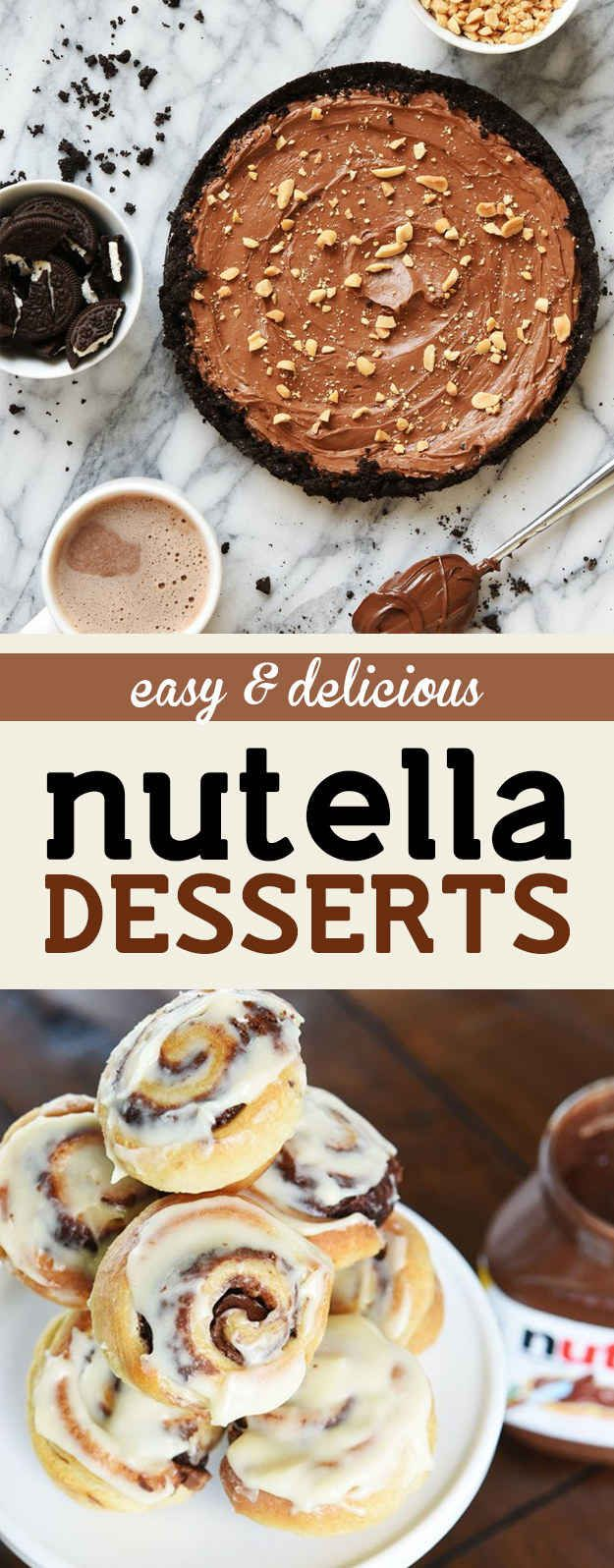 These Insanely Easy Nutella Desserts Will Make Everyone Love You