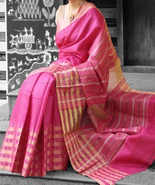 Stunning Woven Linen Silk Saree