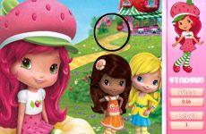 Juegos de Fresita.com - Juego: Encontrar Números Ocultos Gratis Online - Rosita Fresita Frutillita Tarta de Fresa