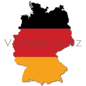 Flag Vector Map of Germany