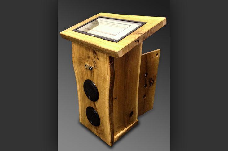 Jukebox Massiv. Leichtes kompaktes Design, Multitouch Display, einfach zu bedienende Jukebox Software. Suchfunktion für Alben, Interpreten, Titel, Genre oder Gemischt. Playlistenerstellung oder Partymodus.Bluetooth - Verbinden Sie sich mit Ihrem Smartphone/Tablet/Laptop/PC und streamen Sie Ihre Musik direkt auf die Jukebox oder schließen Sie über den externen Musikeingang Ihren Musikplayer an. Steuern Sie die Jukebox über Ihr Smartphone per WLAN* Fer