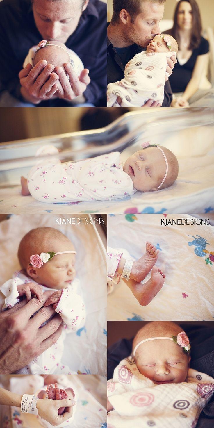Newborn Hospital Photograhy - Photos by KJane Designs - www.kjanedesigns.com