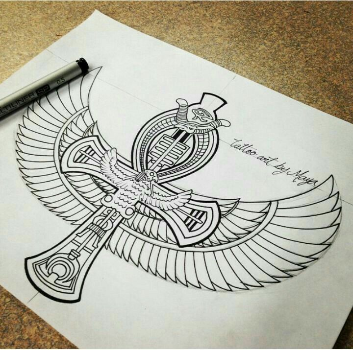 Egyptian design for possible tattoo