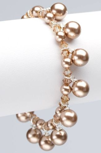 Custom Swarovski Pearl - Annie Bracelet by Chris & Alix Jewelry | CustomMade.com
