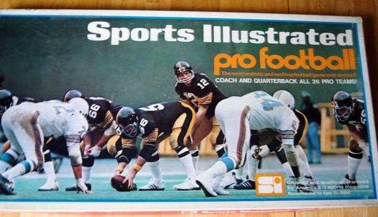 Paydirt Pro Football Game 1973 Sports Illustrated Very Rare Edition Bradshaw #Paydirt