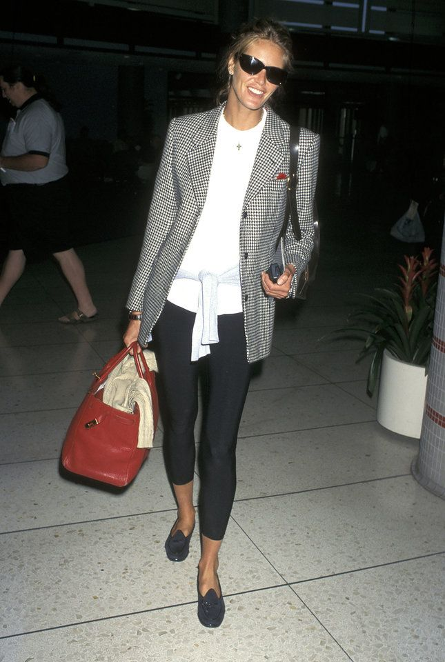 Elle MacPherson. This would be my travel outfit
