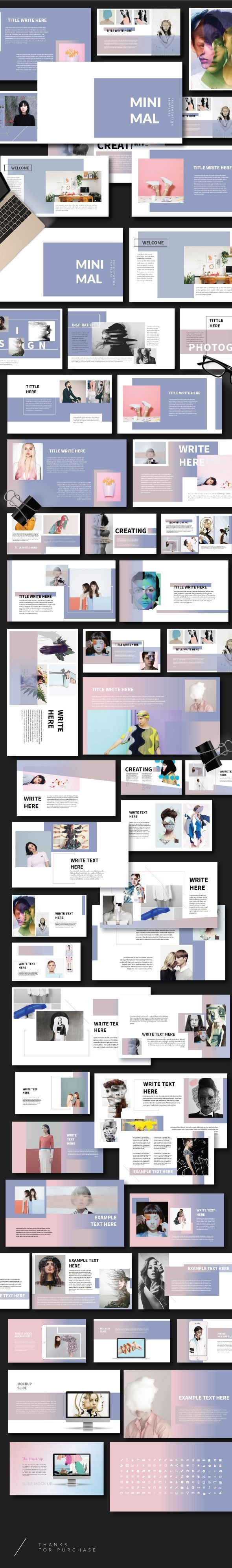 Minimal - Creative Powerpoint Template #awesome #amazing #slide #creative #powerpoint #presentation #theme #template #photooftheday