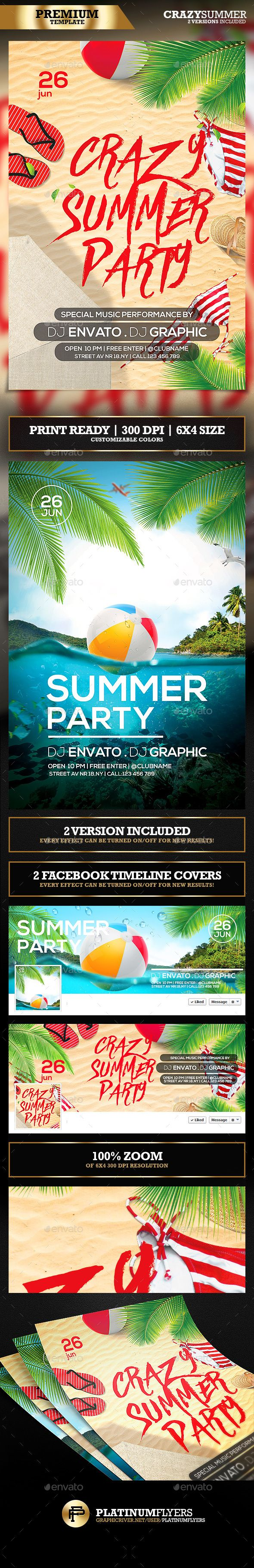 20 best flyer protoshop templates images on pinterest font logo summer party flyer templates 2 version included fandeluxe Gallery