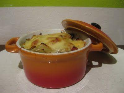 Mini pannetje witlof met ham en kaas