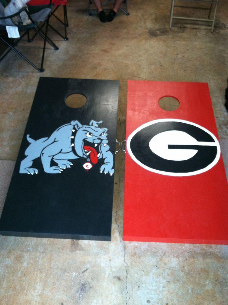 Georgia Bulldogs Cornhole Boards Yard Games