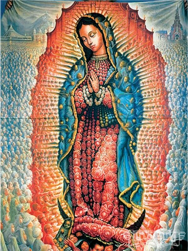 Lady Guadalupe - Octavio Ocampo - WikiPaintings.org