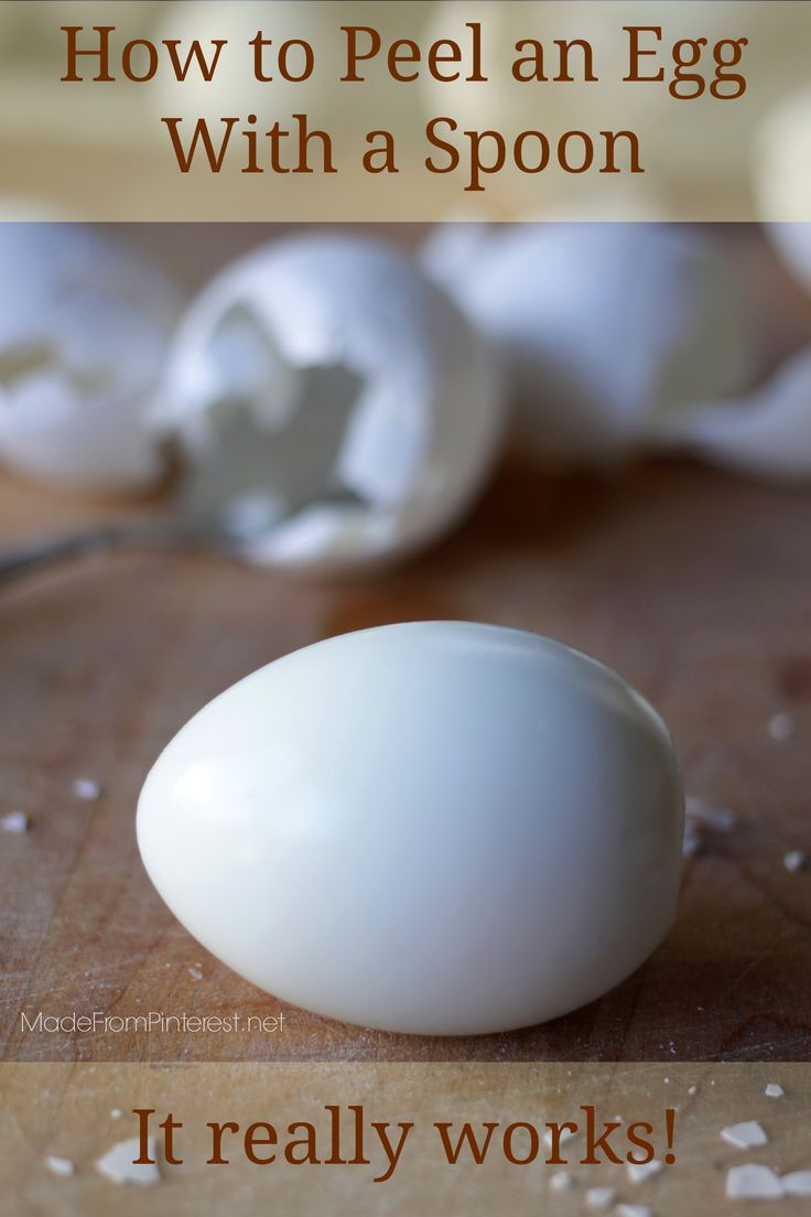 How to Peel an Egg With a Spoon - the fastest, easiest way to peel a hard boiled egg EVER. Less mess too!